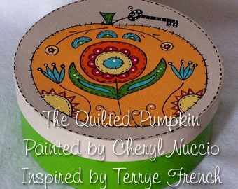 Quilted Pumpkin by Cheryl Nuccio, email pattern painting packetPWF