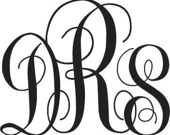 Removable Vinyl Monograms