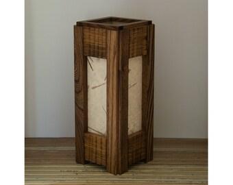 Wooden Lamp, Pine and Elm, Table Lamp, Eco-Friendly, Wooden Lighting, Living Room Lamp, Zen Lighting