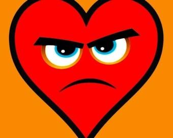 Heart Series Love Angry Hearts- Giclee Print