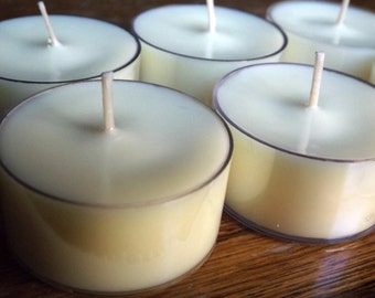 Merry Manhattan Soy Tea Light Candles - Set of 6 Scented Soy Tealights - Citrus Candles - Cognac Candles - Amber Candles - Whiskey Candles