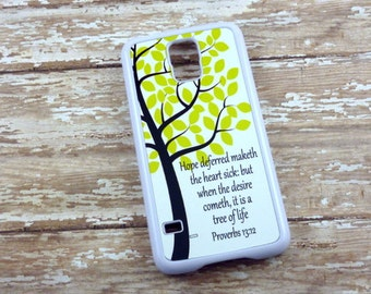 Proverbs phone case -Choose your bible verse/Inspirational quote - Choose your colors - Iphone 4/4s/5/5s/5c - Samsung- Iphone 6