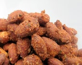 Spicy Mediterranean Rosemary Garlic Chili flavored Almonds, Spicy almonds, Paleo, Aromatic Snack, ready to ship