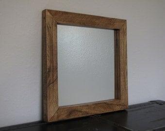 Reclaimed Rustic Oak Mirror Frame - Handmade