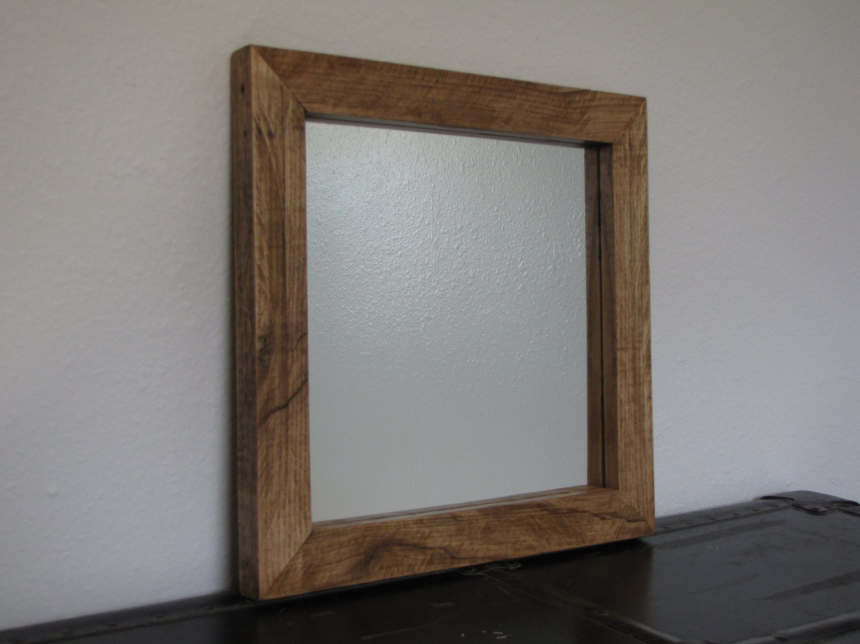 Wood Framed Bath Mirrors Oak Bathroom Mirror Oak Framed Bathroom Mirror Unusual Wood Framed: Reclaimed Rustic Oak Mirror Frame Handmade