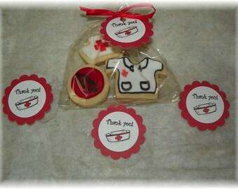 Printable Nurse Thank you  Circles, Cupcake toppers,labels,decor printable DIY