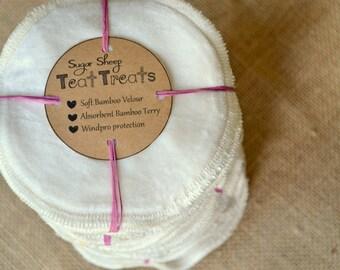 Bamboo Nursing pads, Organic nursing pads, 1 Pair cloth nursing pads, organic cloth diapers, natural fabrics, reusable nursing pads