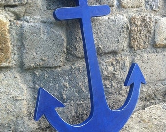 nautical decor big Anchor sign Beach House / Lake House  cottage decor wood signed