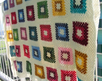 Multicoloured big granny Blanket