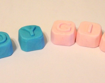 12 3d alphabet cube fondant letters for Cake Cupcake/Cookie Toppers