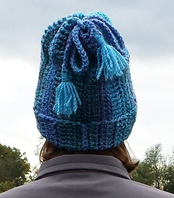 Free Crochet Convertible Cowl Pattern : Convertible hat and cowl scarf tube with tassels crochet ...
