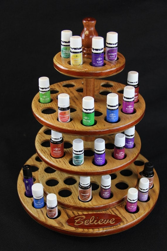 Items Similar To Oak Display Rack For Essential Oils With