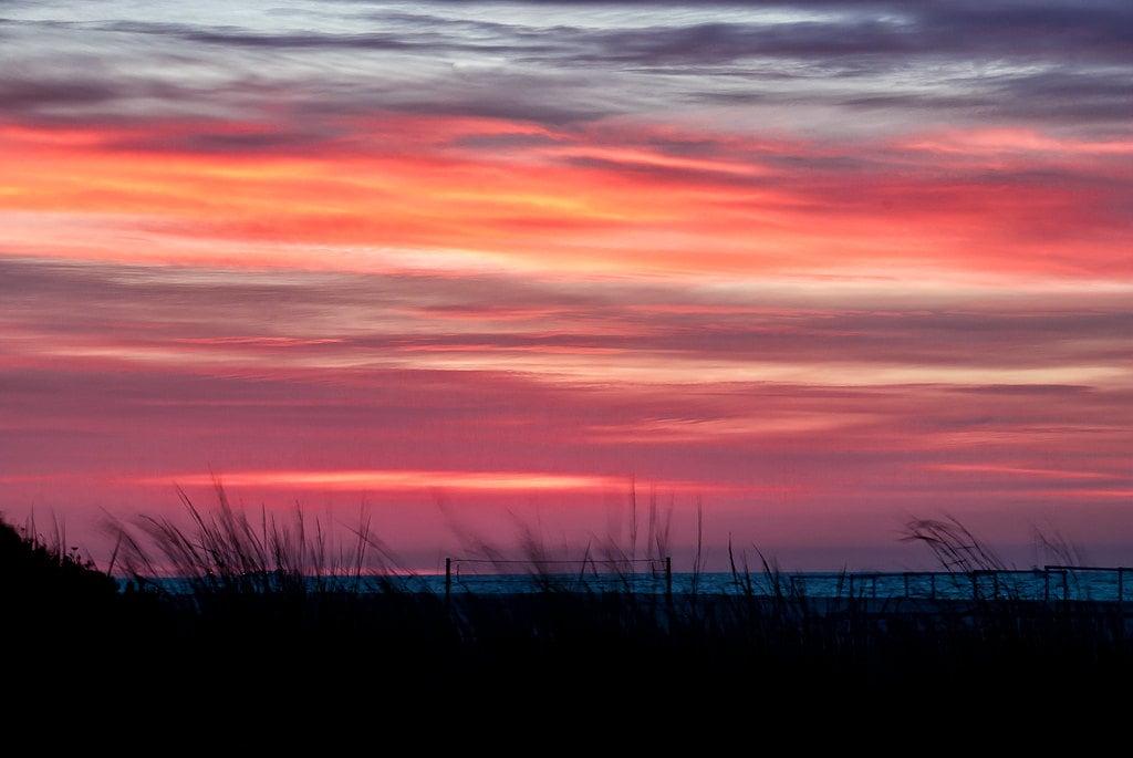 Sunrise Photography Beach Print Pink Orange Purple New