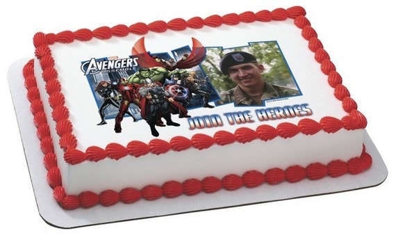 The Avengers Birthday Edible Cake and Cupcake by ...