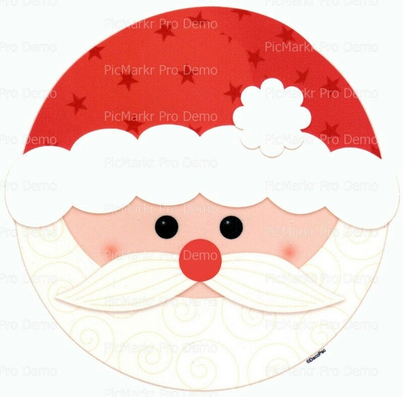 Christmas Santa - Edible Cake and Cupcake Topper For Birthday's and Parties! - D9006