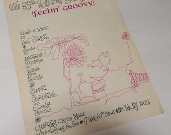 1966 Paul Simon & Garfunkel Sheet Music 59th Street Bridge Song Feelin' Groovy