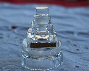 Vintage Avon Ballad glass perfume bottle #1502