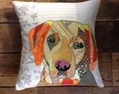 Handmade cushions made to order from a photograph of your pet.