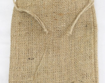 Pack of 6 - Burlap Pouches good for favors and gifts, burlap wedding, rustic country look -  Different sizes avaliable! (BPxx-12)