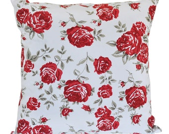 Red Rose Cushion Cover. Pillow Cover.