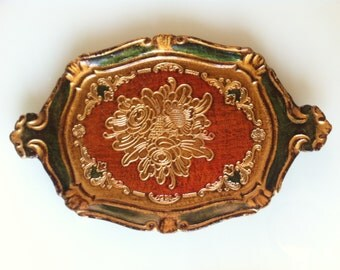 Florentia Tray hand crafted in Italy. Perfect for display or use as a decorative item! One of a kind!!