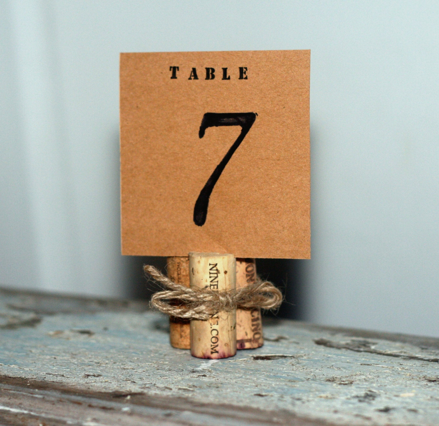 Wine Cork Table Numbers: Wine Corks Table Number Markers/Holders By AppalachianArtisans