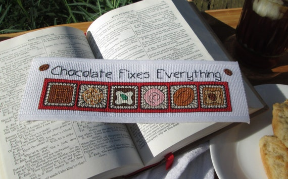 Basket Weaving Supplies Eugene Oregon : Cross stitch pattern chocolate fixes everything