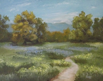 Original painting Landscape Path of Beauty...