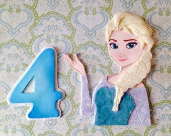 Frozen Elsa Inspired Cake Topper