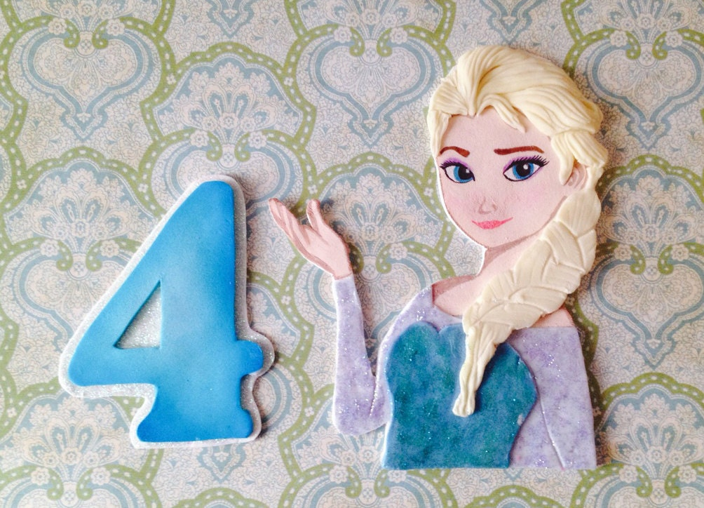 how to make elsa cake topper