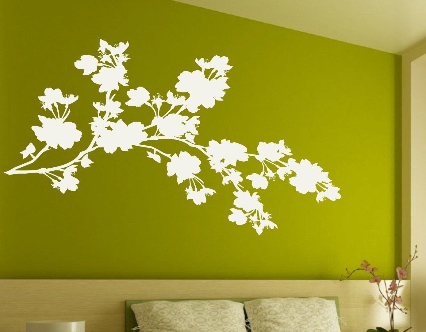 Floral Design Wall Decals : Floral branch wall decals sticker decor art mural free