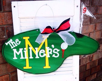 Golf Green Door Hanger