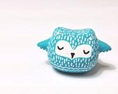 Wisdom Owl - Owl Figurine - Handmade Polymer Clay