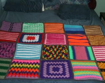 Crochet Sampler Afghan
