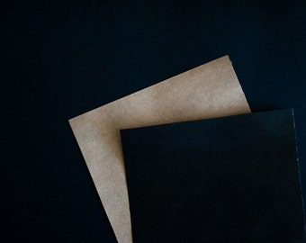 Black on Kraft Gift Wrapping Paper