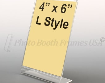 Photo Booth Frames, 4x6, L Style, Lot of 100 Acrylic Picture Frames