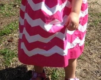 Chevron Pillowcase Dress