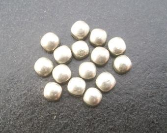20 pieces 6mm Natural GOLDEN PYRITE Cushion cabochon Gemstone....