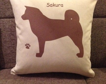 Personalised Akita Dog Cushion