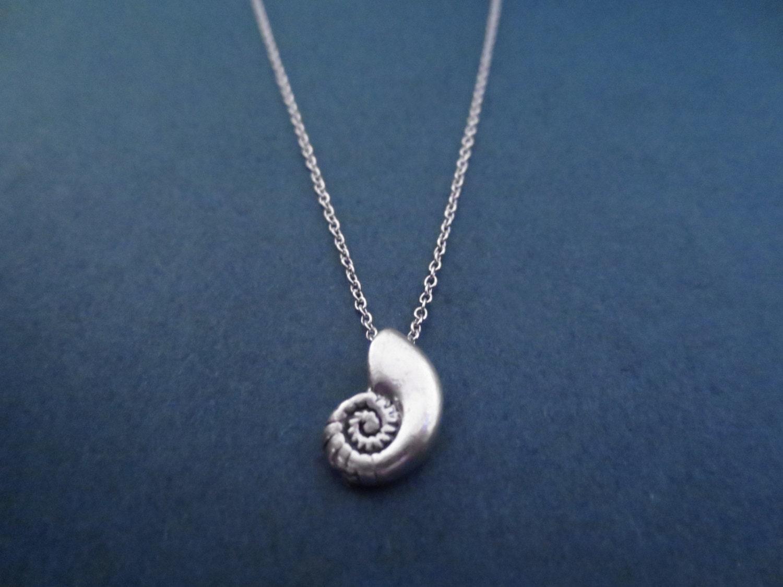ariel voice seashell shell silver necklace ariel