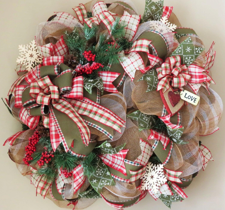 Winter Valentine Deco Mesh Wreath Winter Mesh Wreath