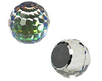 Swarovski 4861 Fireball Crystals Comet Argent Light VZ  14mm (2) Mint in Box