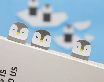 Sticky Note [ Penguin ] / Bookmark / Note pad / Memo pad / Index sticky note