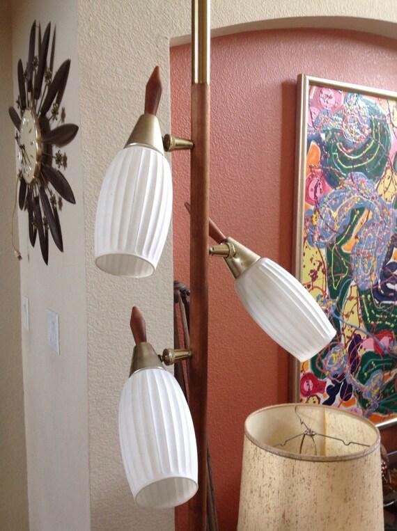sale mid century tension pole lamp. Black Bedroom Furniture Sets. Home Design Ideas