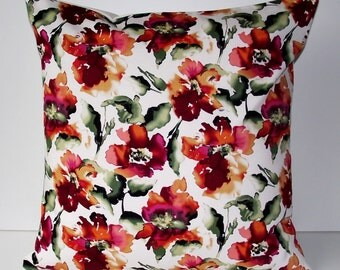 "Cushion cover - Japanese Cotton Spandex Rose Print 18"" x 18"""