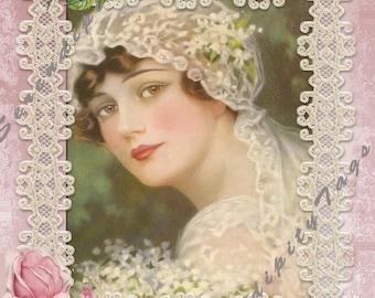 Vintage Bride Collage.