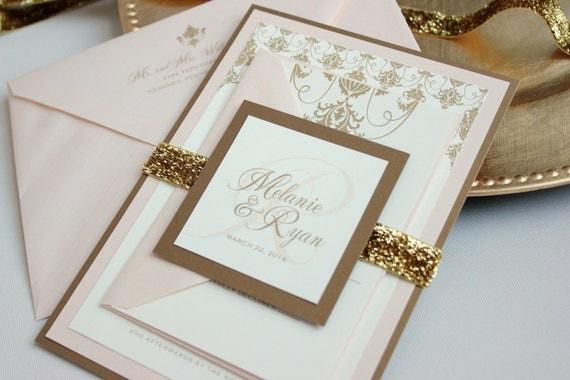 Blush And Ivory Wedding Invitations: Wedding Ideas: Blush, Cream, And Gold Wedding Theme