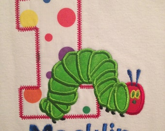 Personalized inspired hungry caterpillar shirt