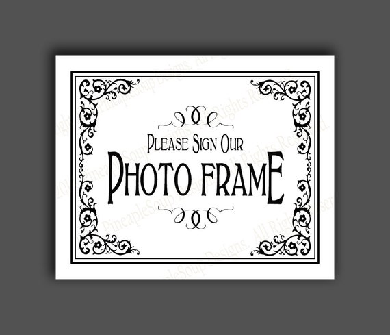 please sign our photo frame printable wedding sign please sign our