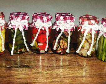 Reallistic Dollhouse miniature Canned vegetables 1:12